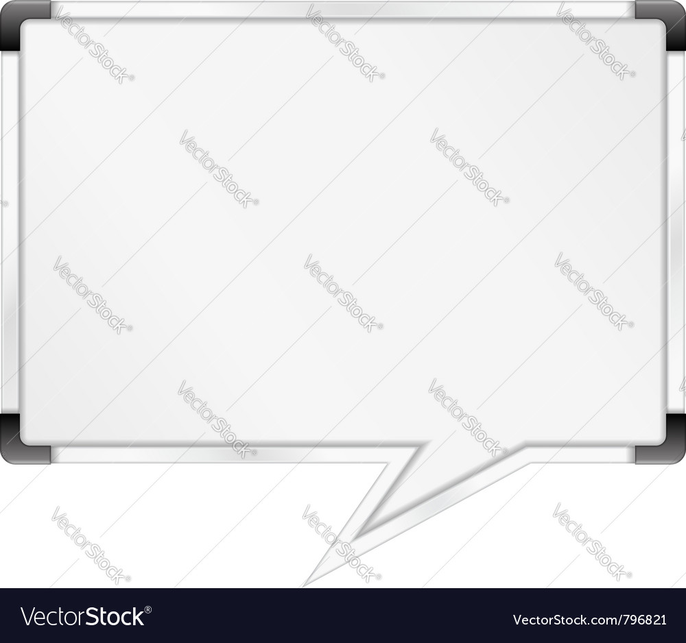 Whiteboard vector | Price: 1 Credit (USD $1)