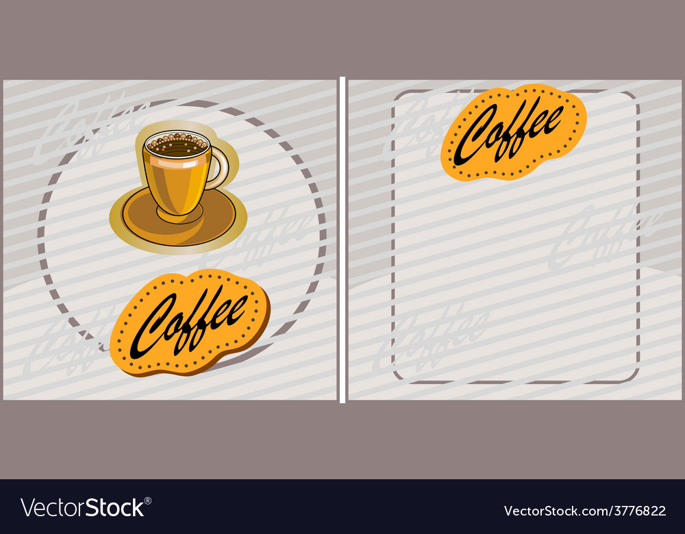 Banner with coffee vector   Price: 1 Credit (USD $1)
