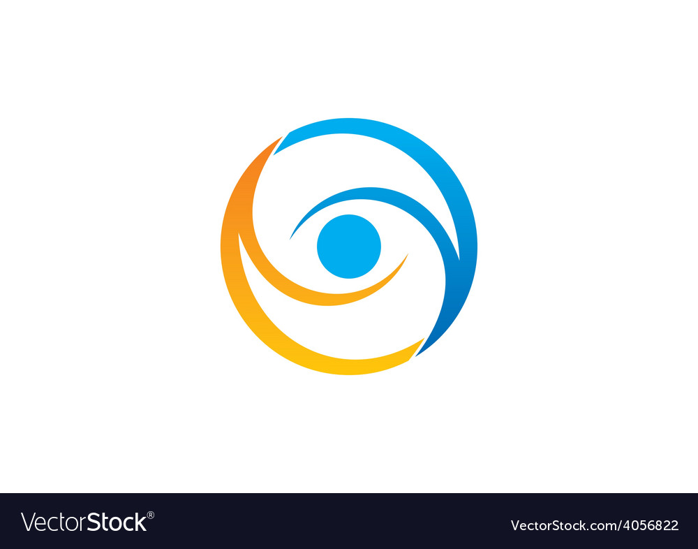Circle vision eye abstract logo vector | Price: 1 Credit (USD $1)