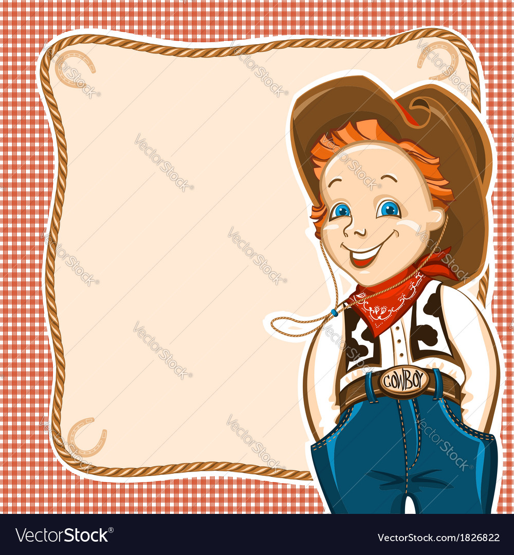 Cowboy child with western traditional clothes vector | Price: 1 Credit (USD $1)