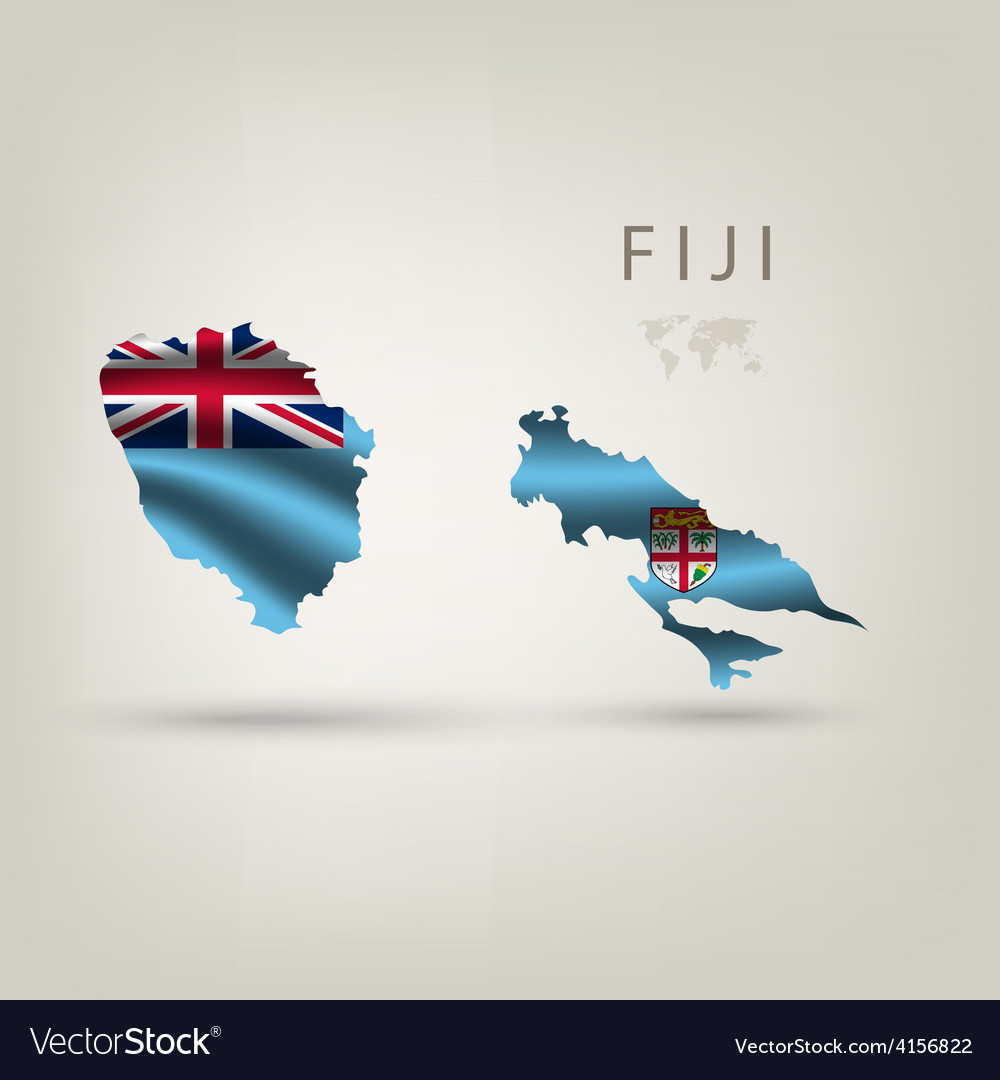 Flag of fiji as a country with a shadow vector | Price: 3 Credit (USD $3)