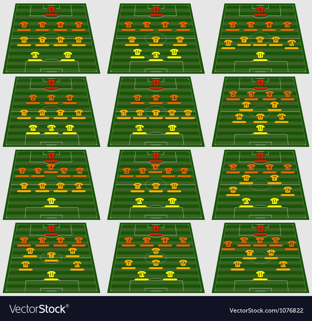 Football tactic vector | Price: 1 Credit (USD $1)
