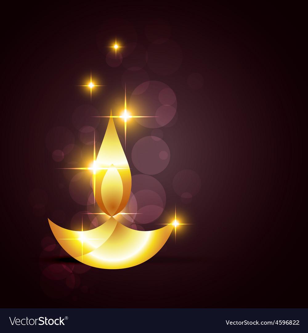 Glowing diwali diya on a background vector | Price: 1 Credit (USD $1)
