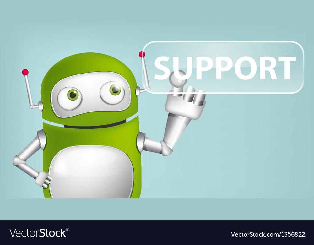 Green robot vector   Price: 1 Credit (USD $1)