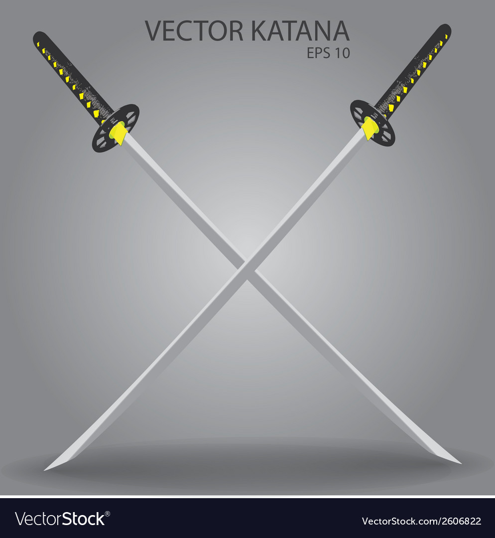 Katana sword eps10 vector | Price: 1 Credit (USD $1)