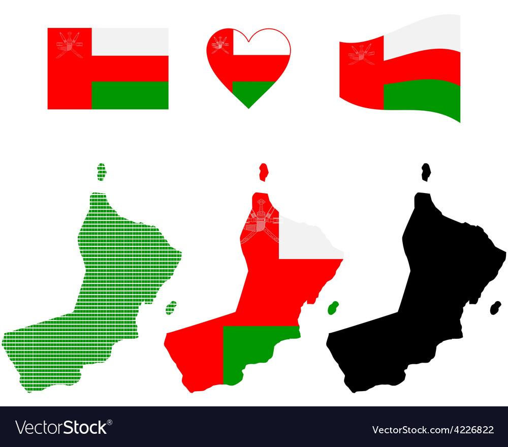 Oman map vector | Price: 1 Credit (USD $1)