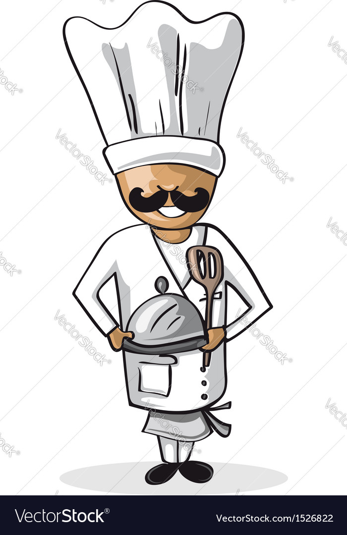 Profession chef cook man cartoon figure vector | Price: 1 Credit (USD $1)