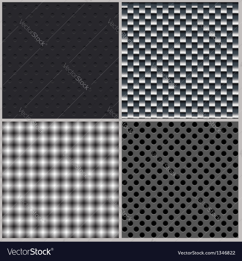 Set of four backgrounds abstract dotted and metal vector | Price: 1 Credit (USD $1)