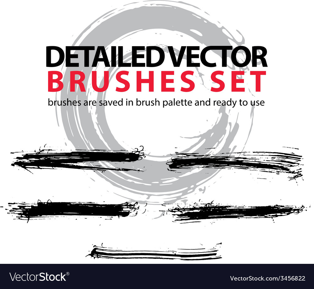 Set of highly detailed torn brush strokes st vector   Price: 1 Credit (USD $1)