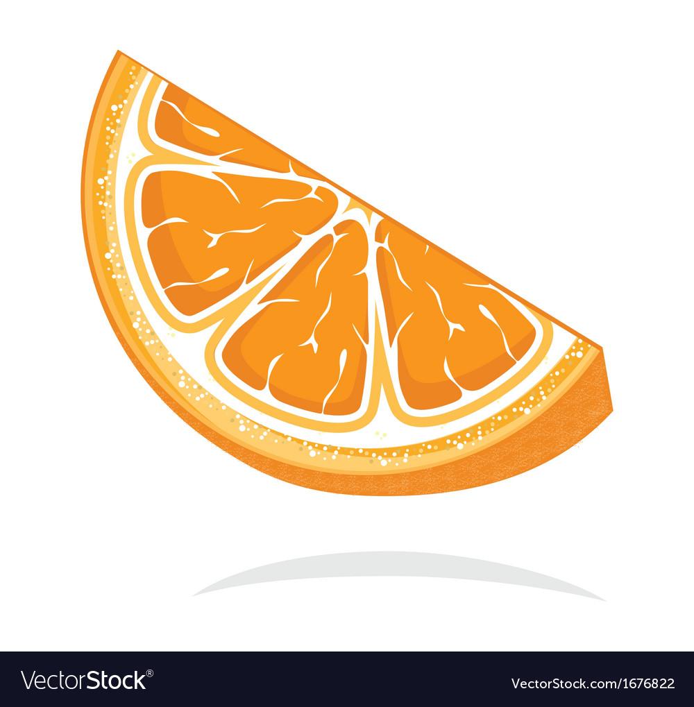 Slice of orange resize vector | Price: 1 Credit (USD $1)