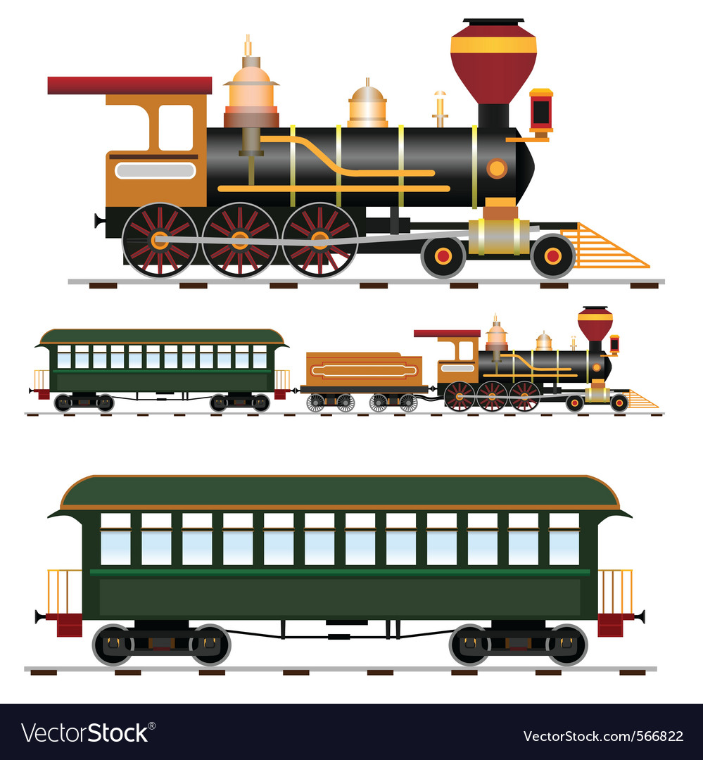 Steam train vector | Price: 3 Credit (USD $3)