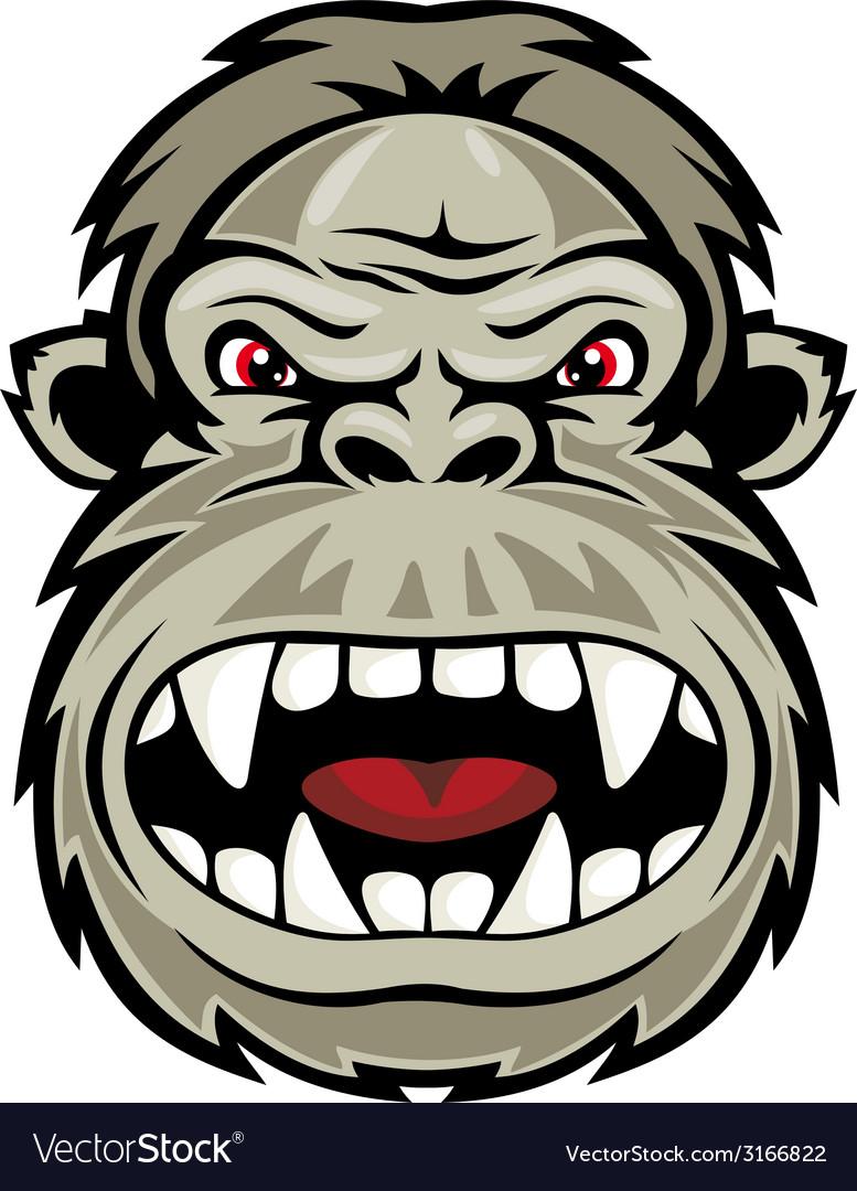 Wild gorilla vector | Price: 1 Credit (USD $1)