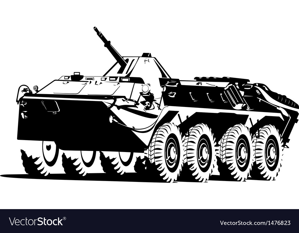 Armored troop carrier vector | Price: 1 Credit (USD $1)