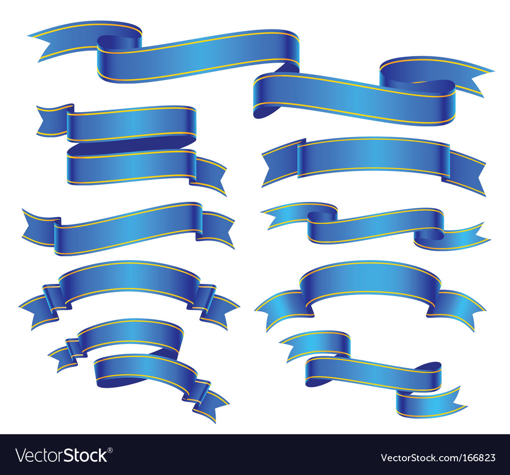 Blue banners vector | Price: 1 Credit (USD $1)