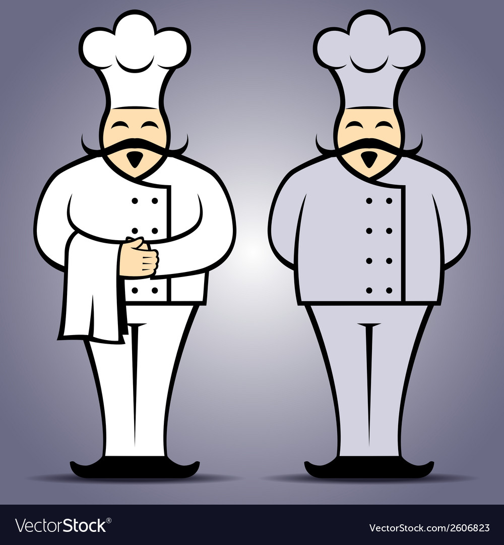 Chef cook in uniform vector | Price: 1 Credit (USD $1)