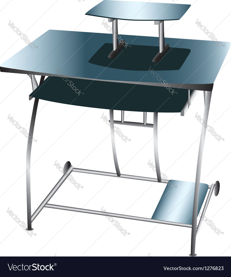 Computer desk workstation vector | Price: 1 Credit (USD $1)