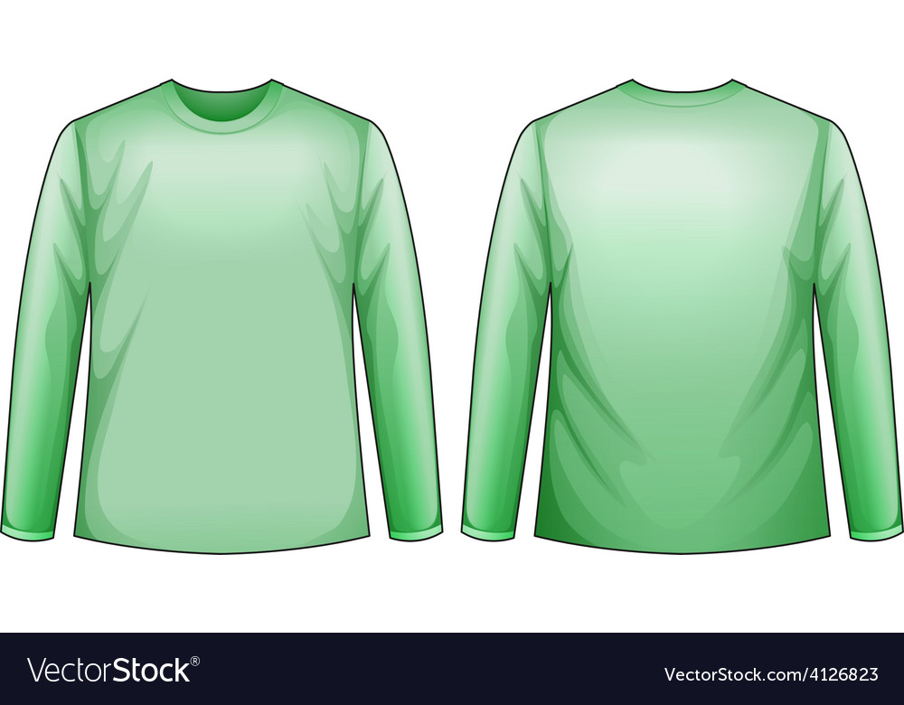 Green shirts vector | Price: 1 Credit (USD $1)