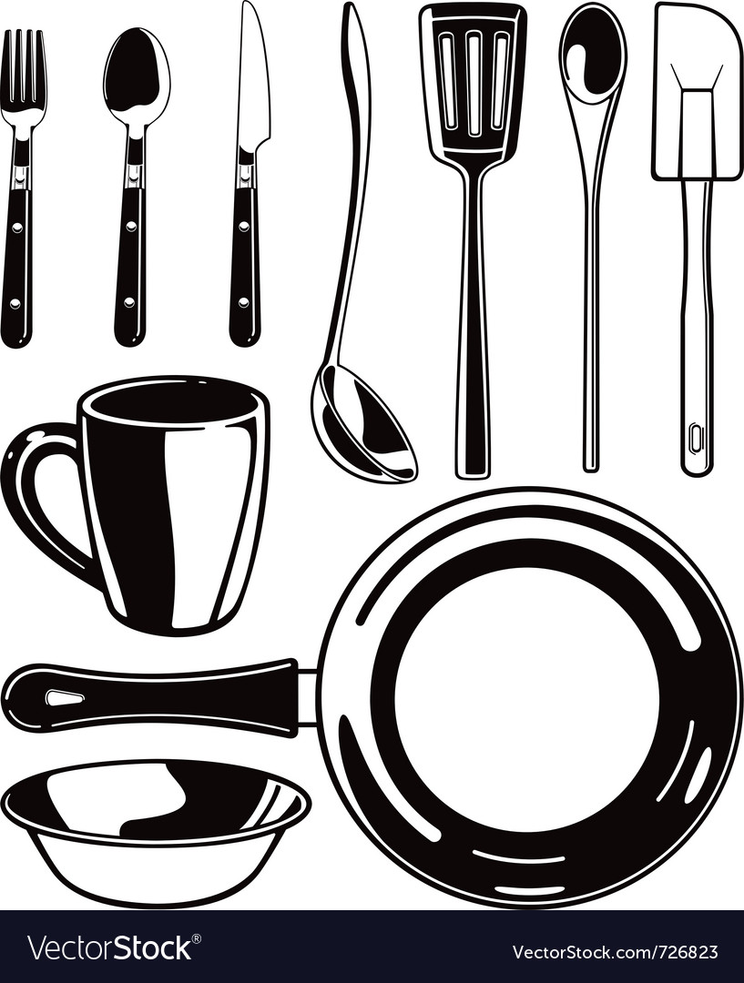 Kitchen set vector | Price: 1 Credit (USD $1)