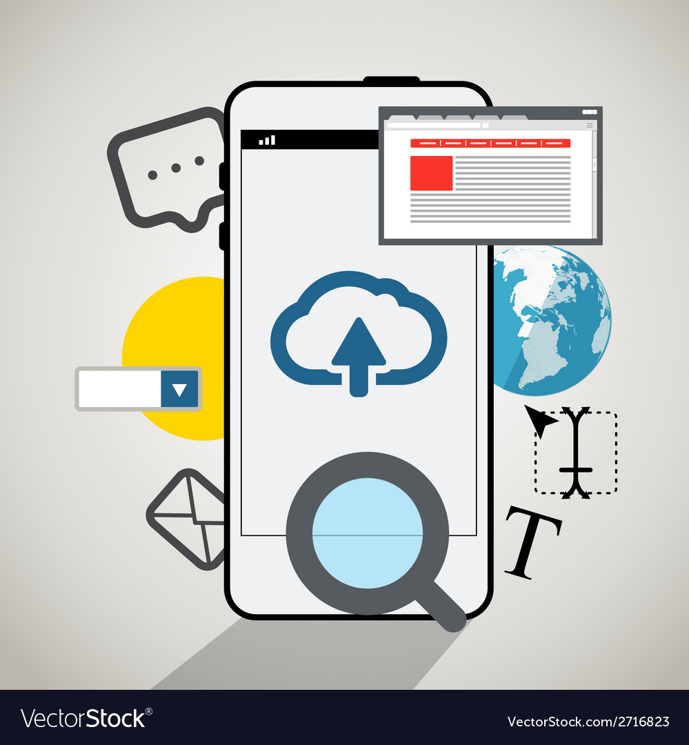 Modern smartphone interface vector | Price: 1 Credit (USD $1)