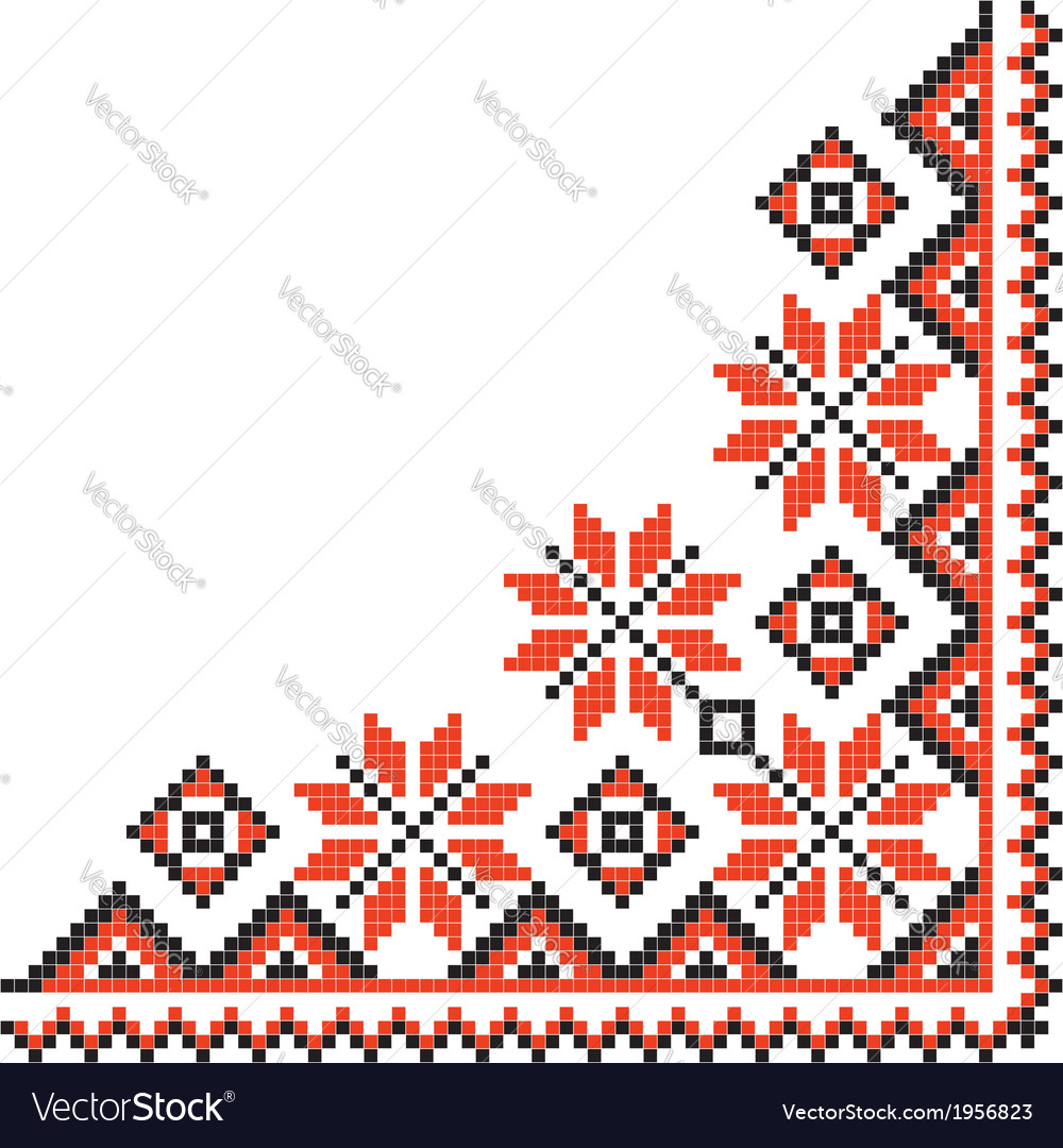 National pattern fabric texture corner vector | Price: 1 Credit (USD $1)