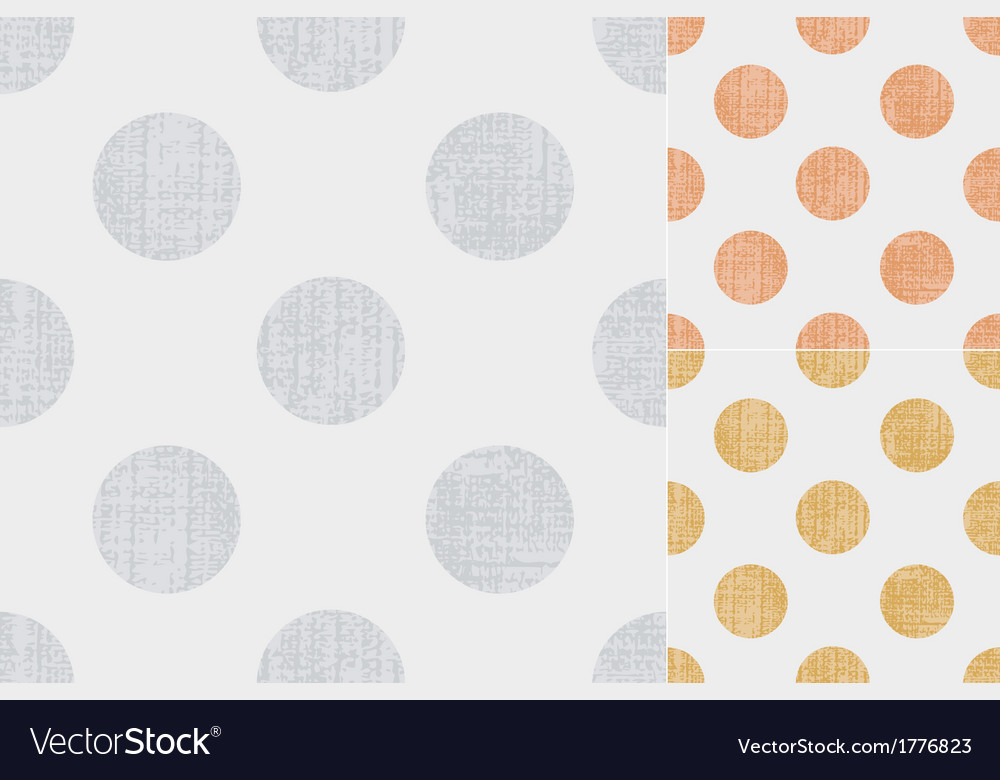 Seamless polka dots texture pattern vector | Price: 1 Credit (USD $1)