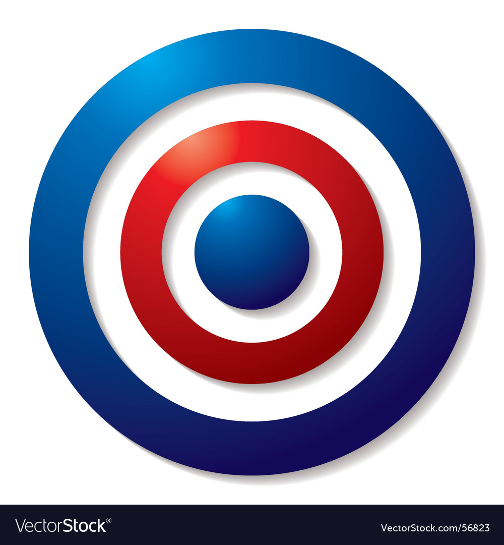 Tricolor target vector | Price: 1 Credit (USD $1)