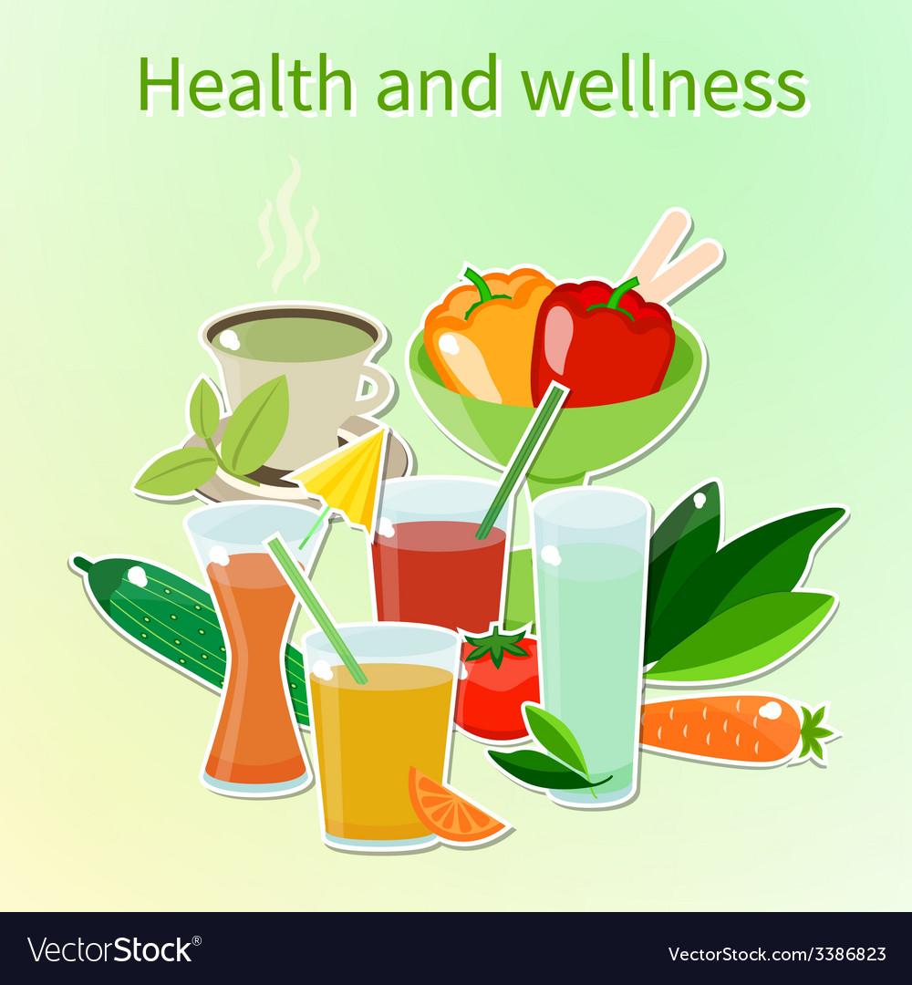 Wellness vector | Price: 1 Credit (USD $1)
