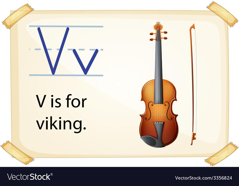 A letter v for viking vector | Price: 3 Credit (USD $3)