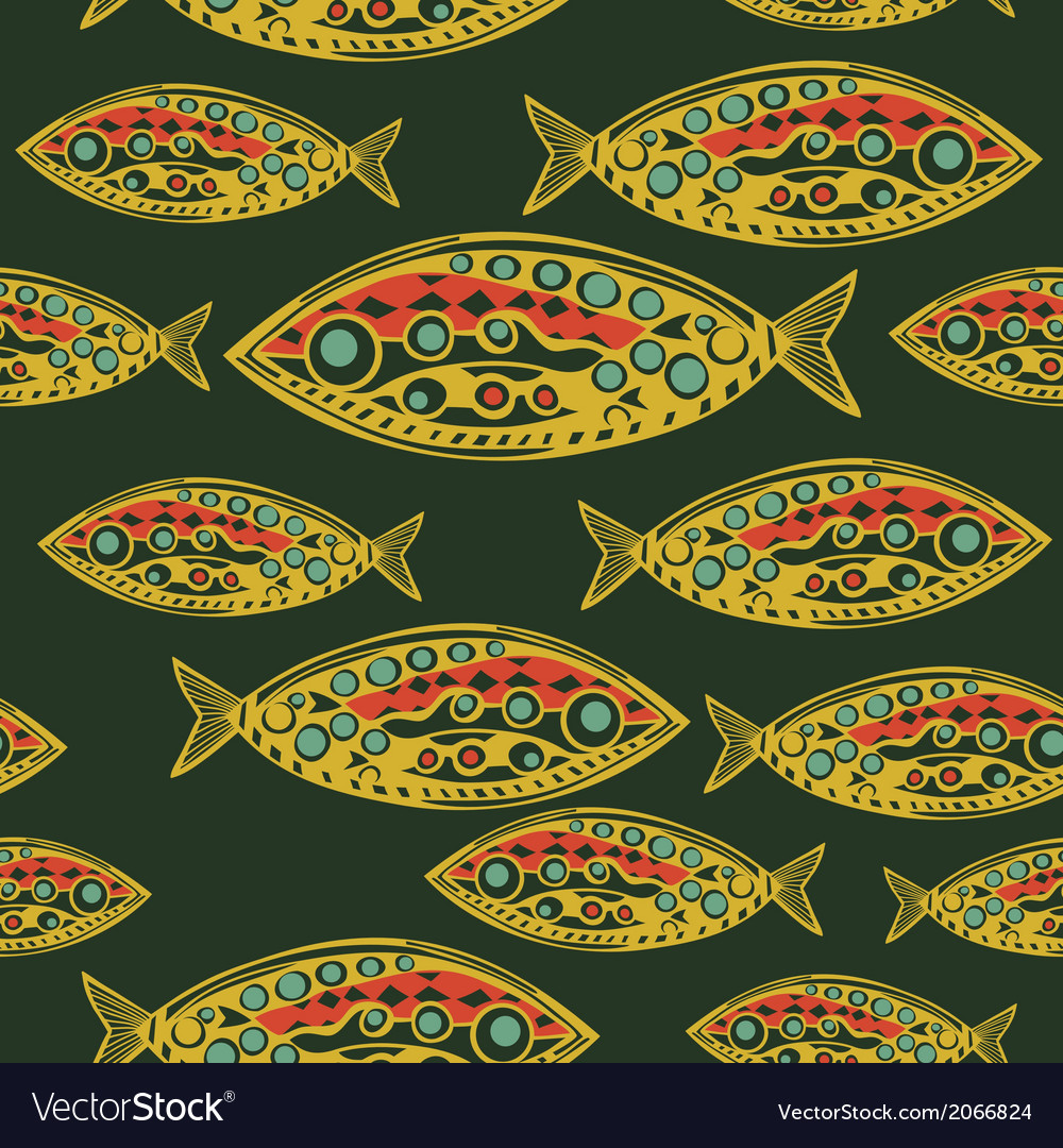 Abstract fish pattern made as seamless vector | Price: 1 Credit (USD $1)