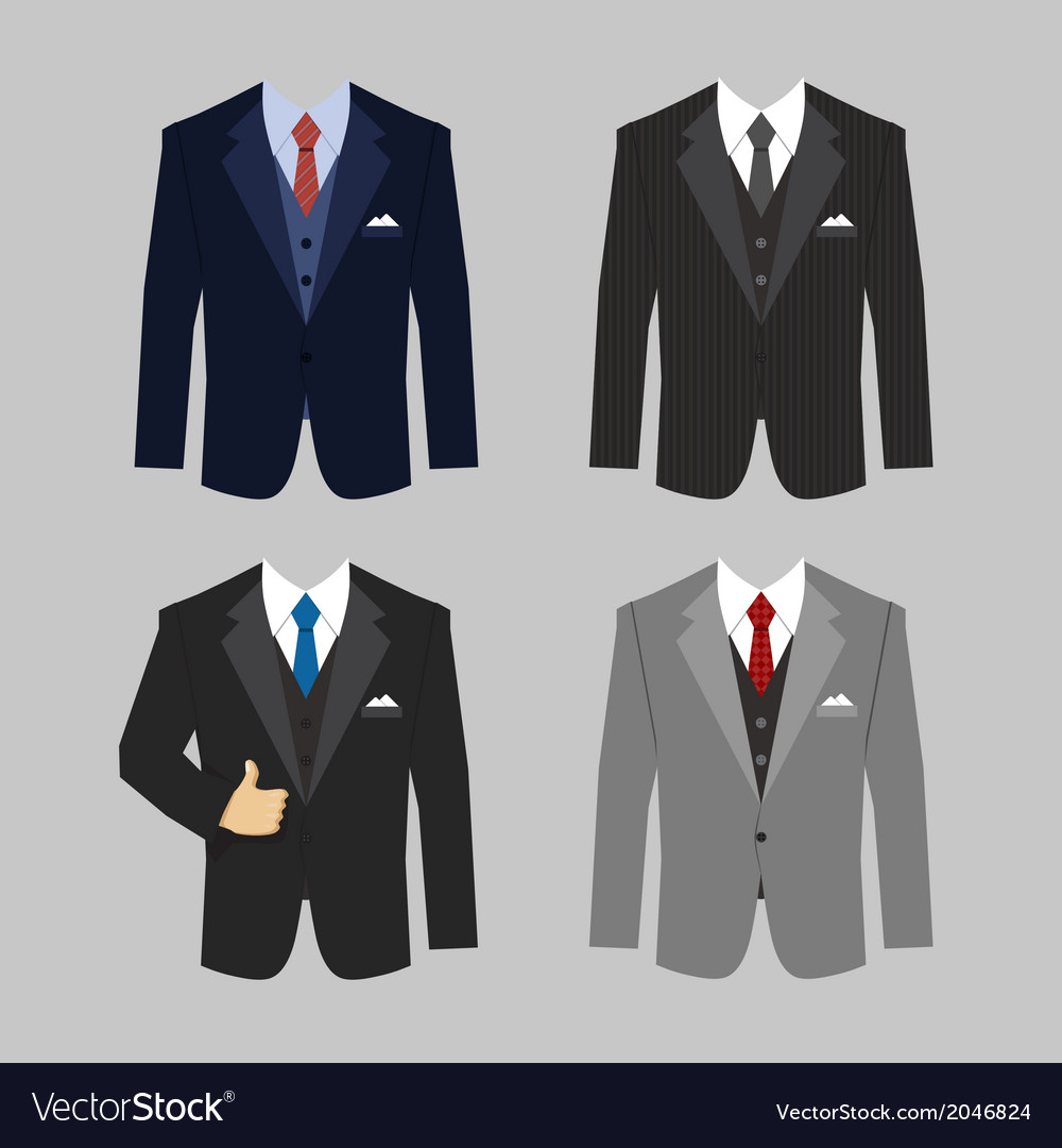 Business clothing suit vector | Price: 1 Credit (USD $1)