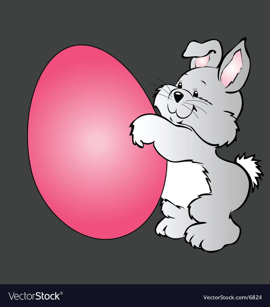 Cartoon easter bunny vector | Price: 3 Credit (USD $3)