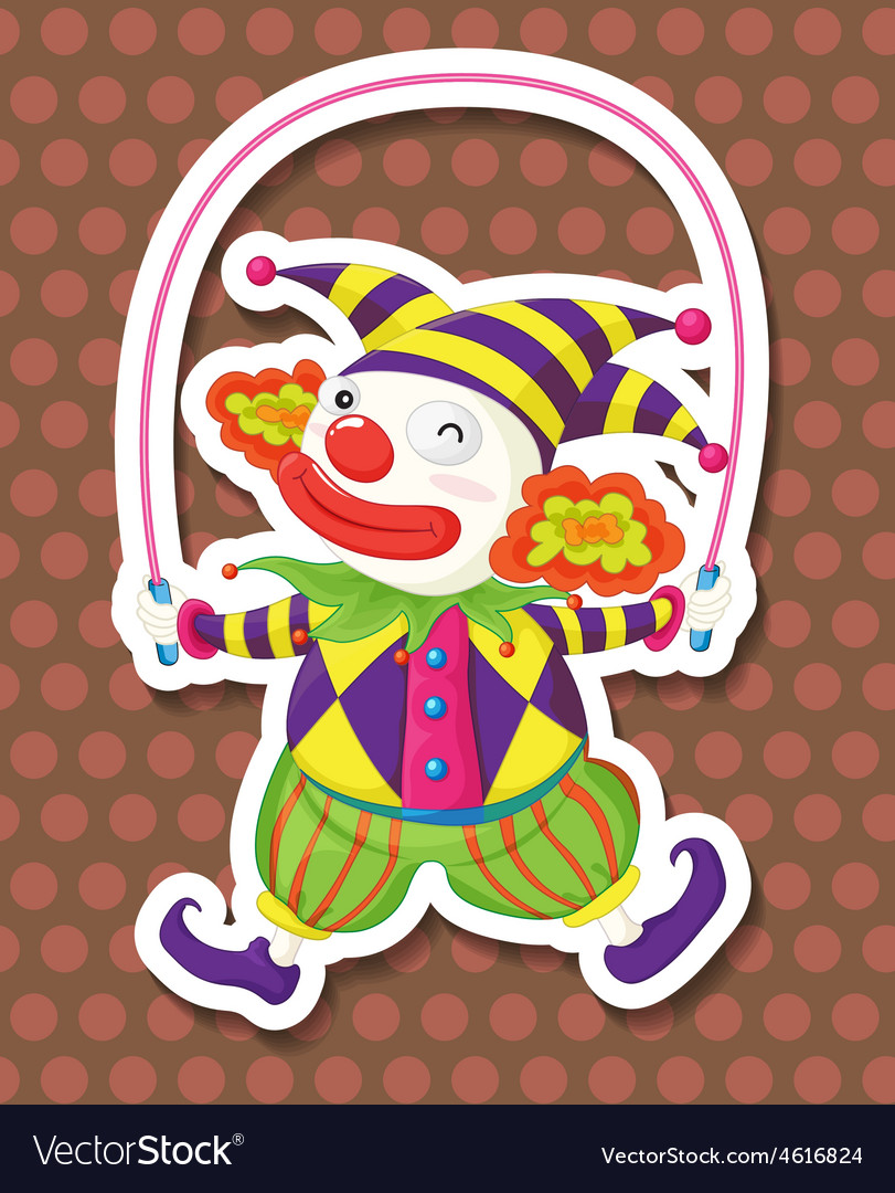 Clown jumping vector | Price: 1 Credit (USD $1)