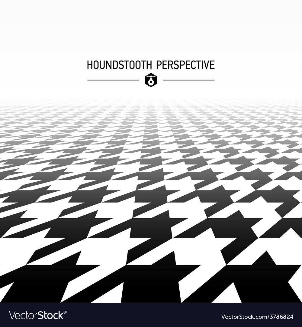 Houndstooth pattern perspective vector | Price: 1 Credit (USD $1)