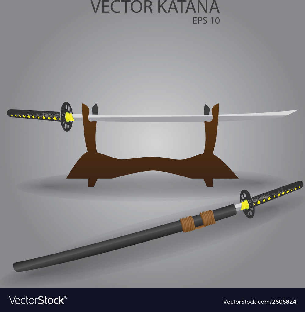 Katana sword stand eps10 vector | Price: 1 Credit (USD $1)