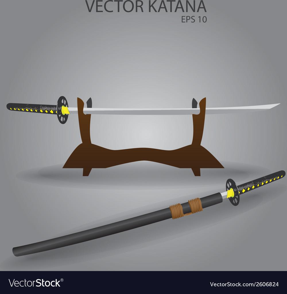 Katana sword stand eps10 vector | Price: 1 Credit (USD $1)