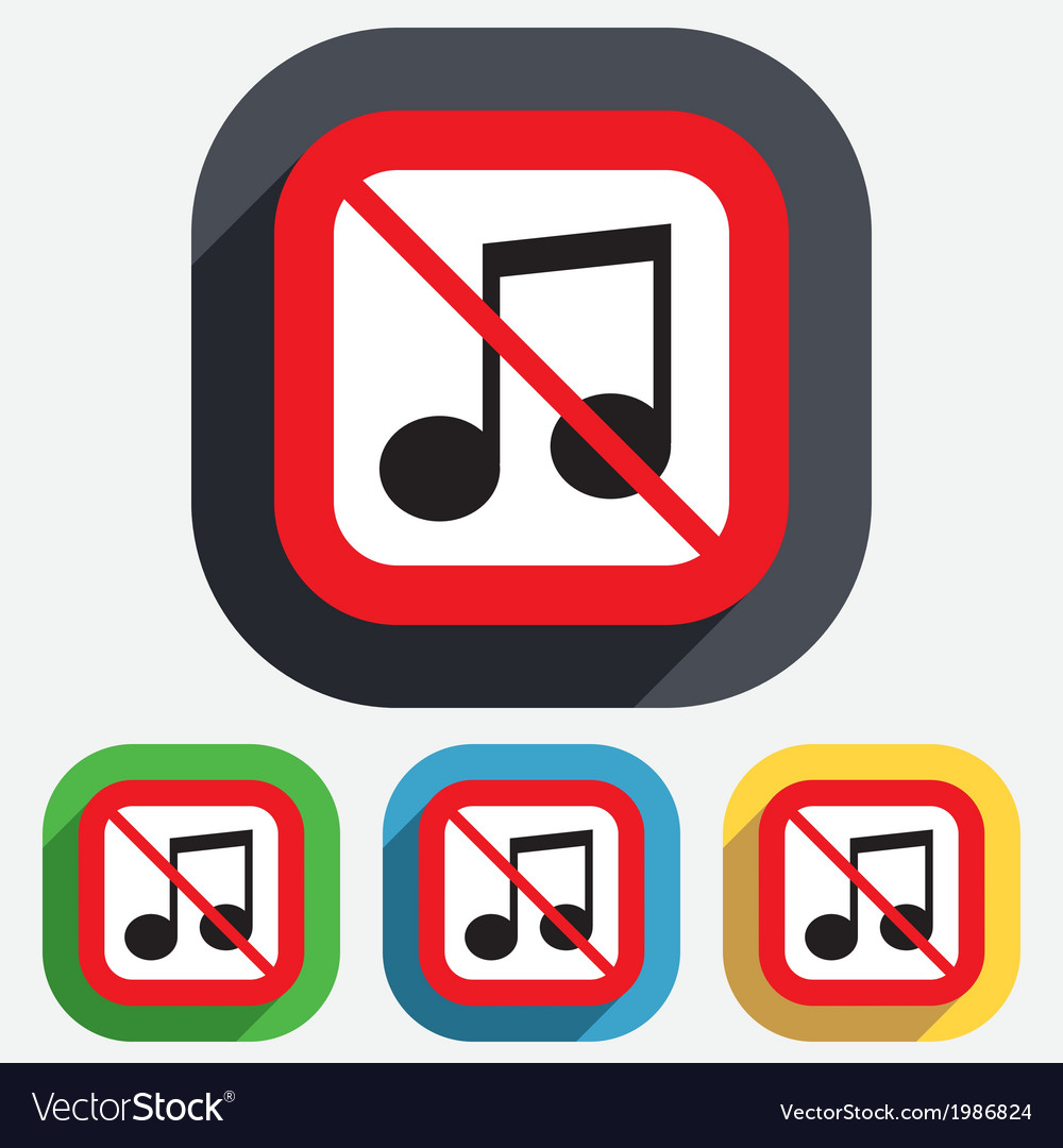 No music note sign icon musical symbol vector | Price: 1 Credit (USD $1)