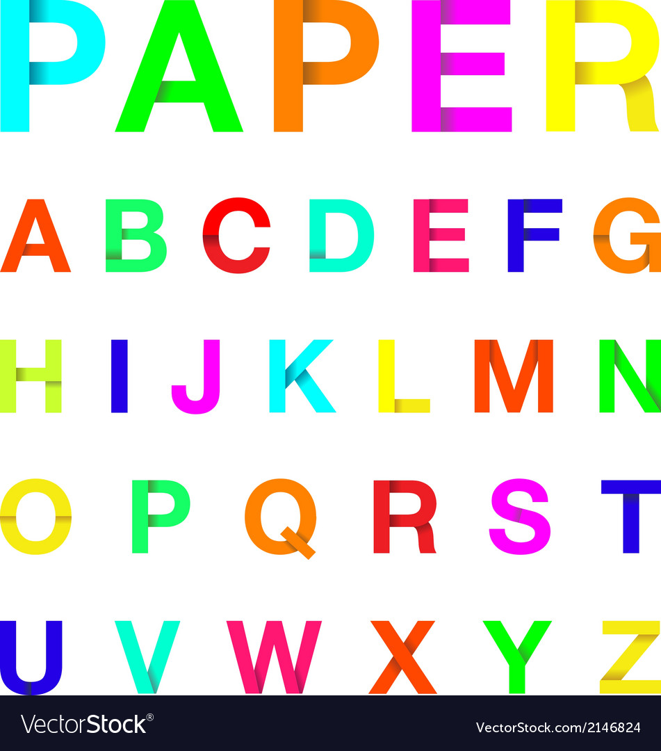 Paper letters colour vector | Price: 1 Credit (USD $1)