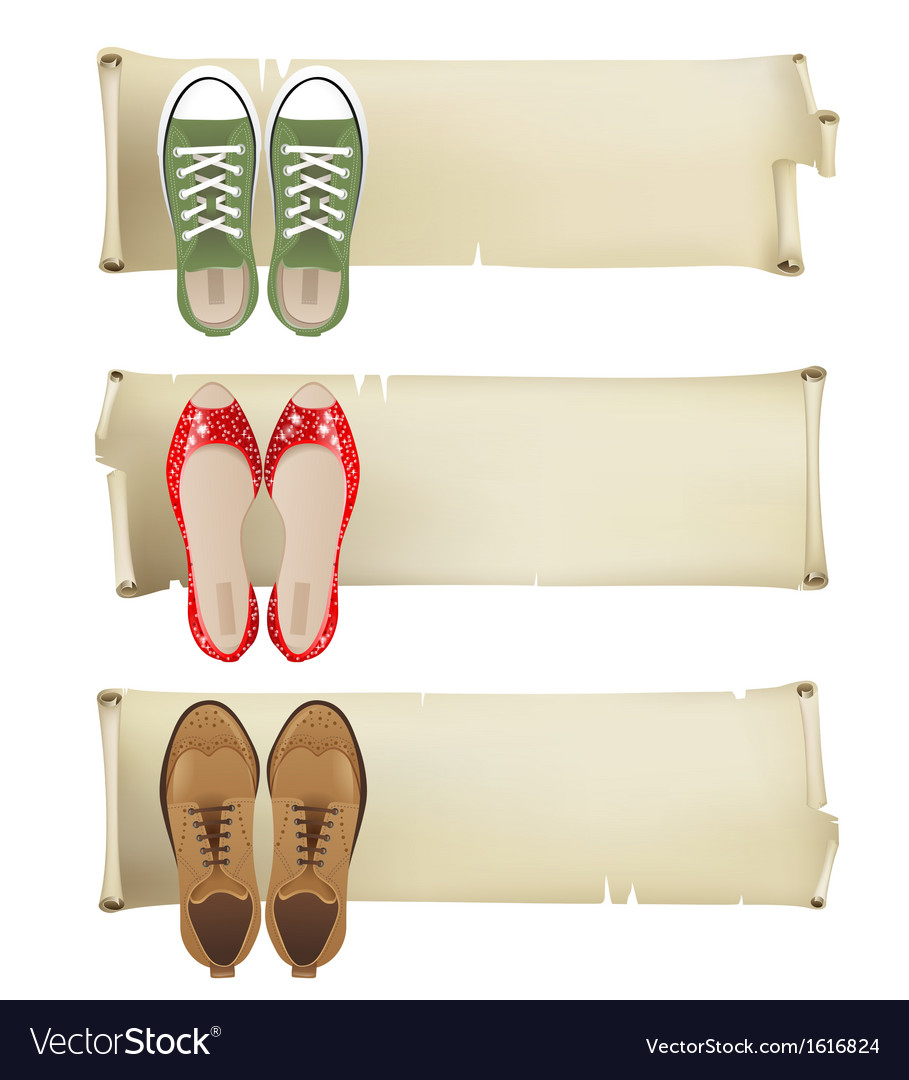 Shoes banners vector | Price: 1 Credit (USD $1)