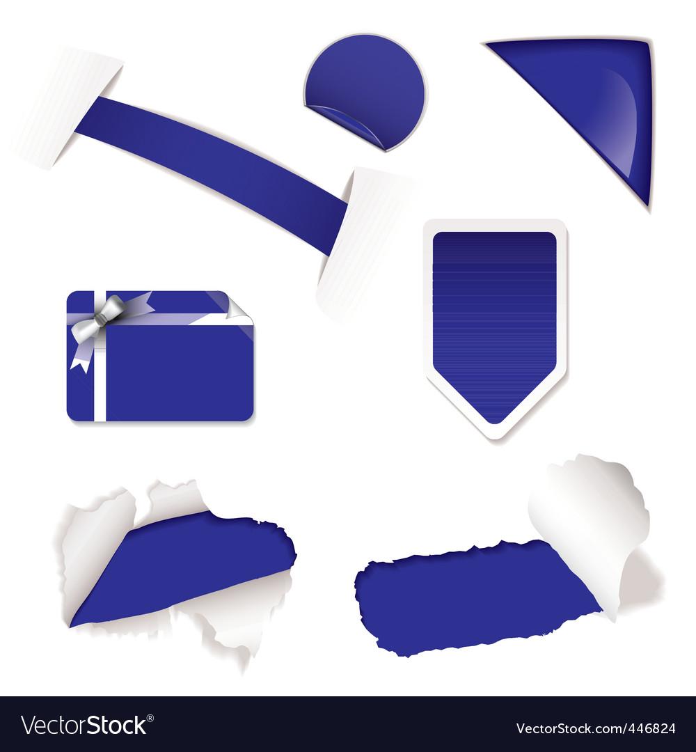 Shop sale elements purple vector | Price: 1 Credit (USD $1)