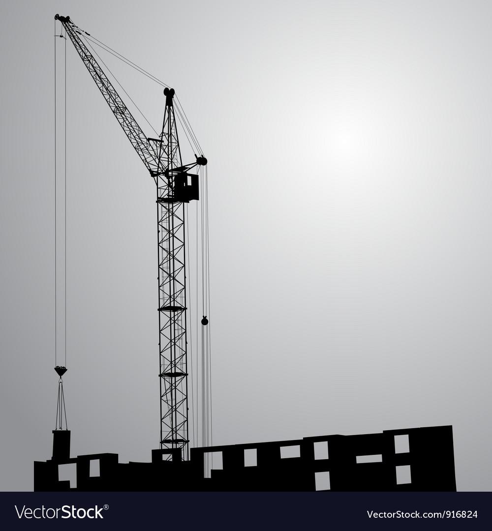 Silhouette cranes vector | Price: 1 Credit (USD $1)