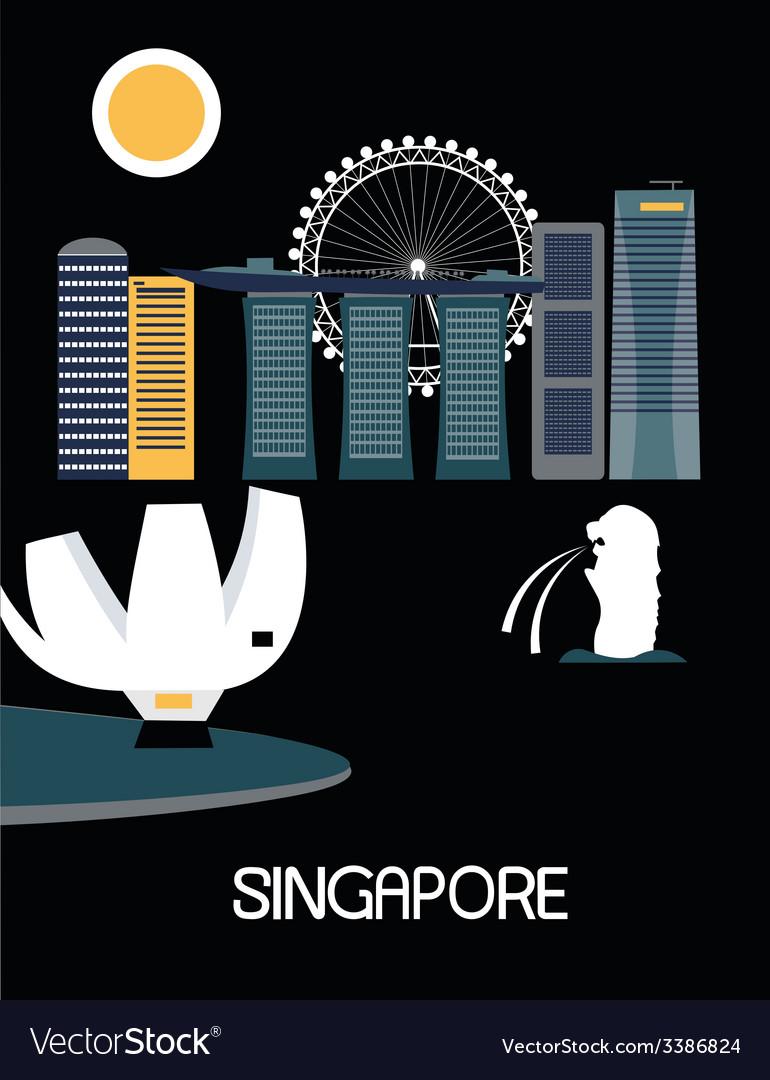 Singapore city vector   Price: 1 Credit (USD $1)