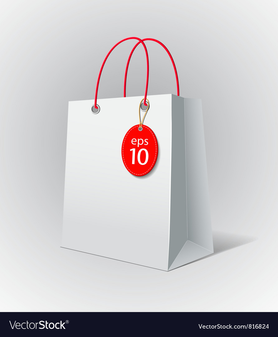 White paper bag vector | Price: 1 Credit (USD $1)