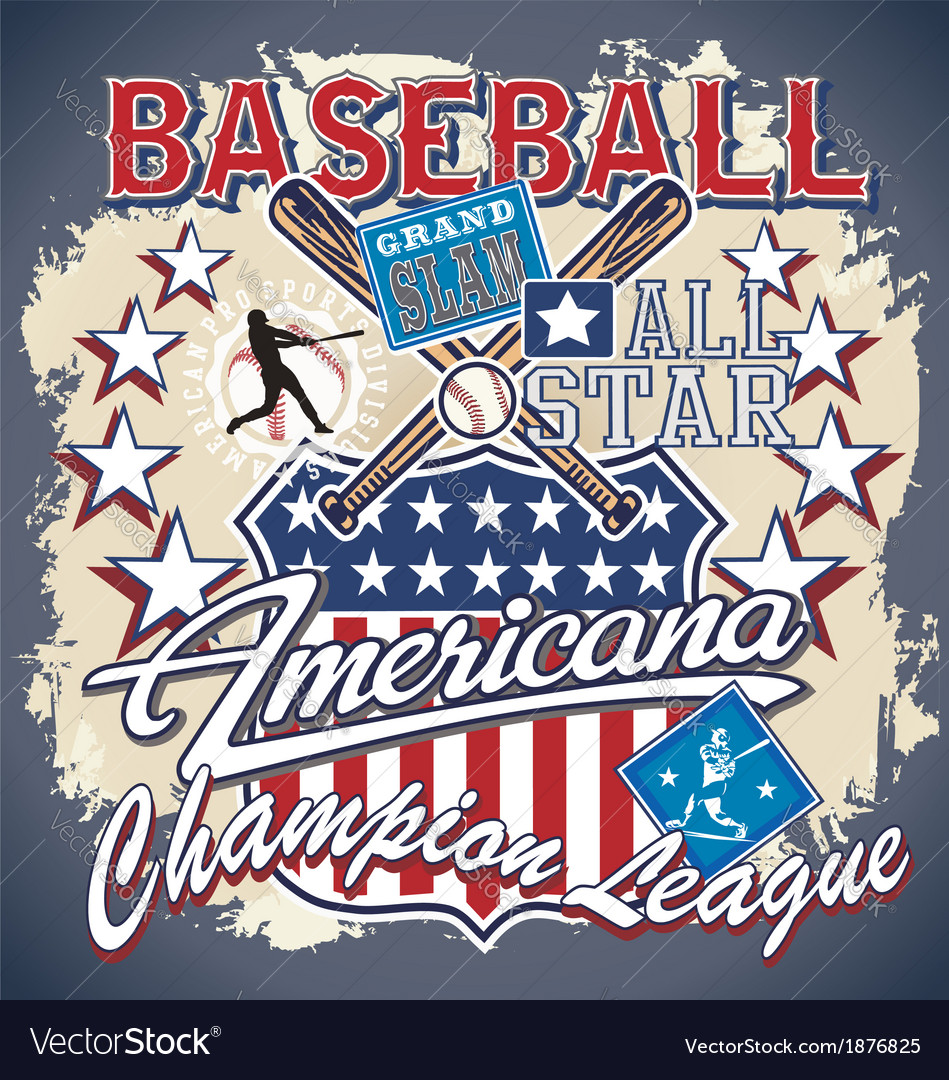 Baseball americana vector | Price: 3 Credit (USD $3)