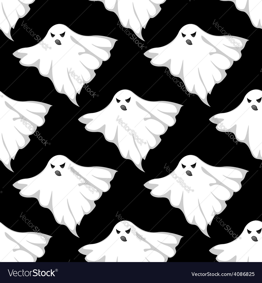 Danger ghosts seamless pattern vector | Price: 1 Credit (USD $1)