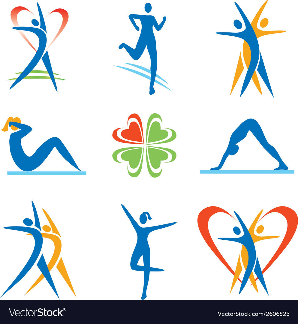 Fitness health icons vector | Price: 1 Credit (USD $1)