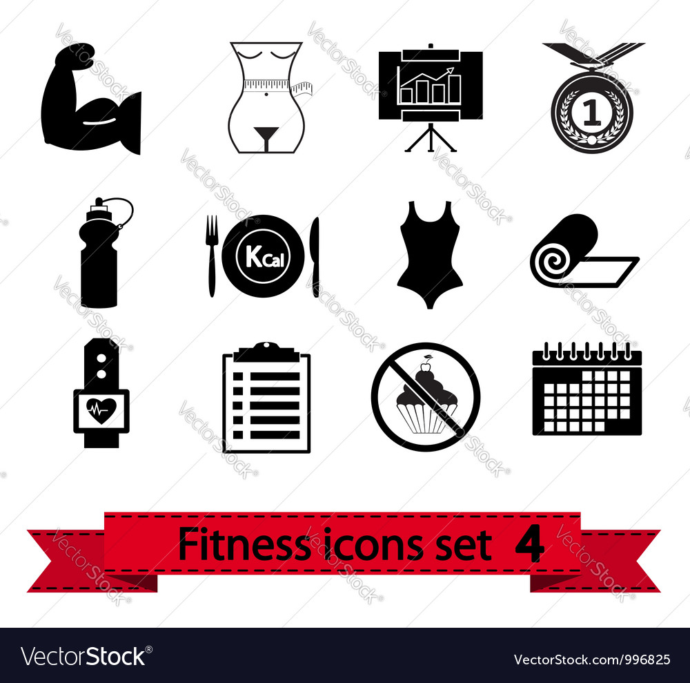 Fitness icon 4 vector | Price: 1 Credit (USD $1)