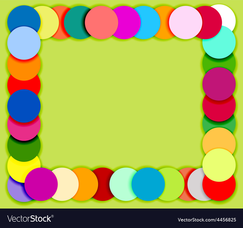 Frame made of color circles 2 vector | Price: 1 Credit (USD $1)
