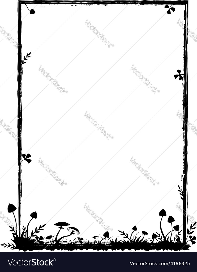 Frame with mushrooms vector
