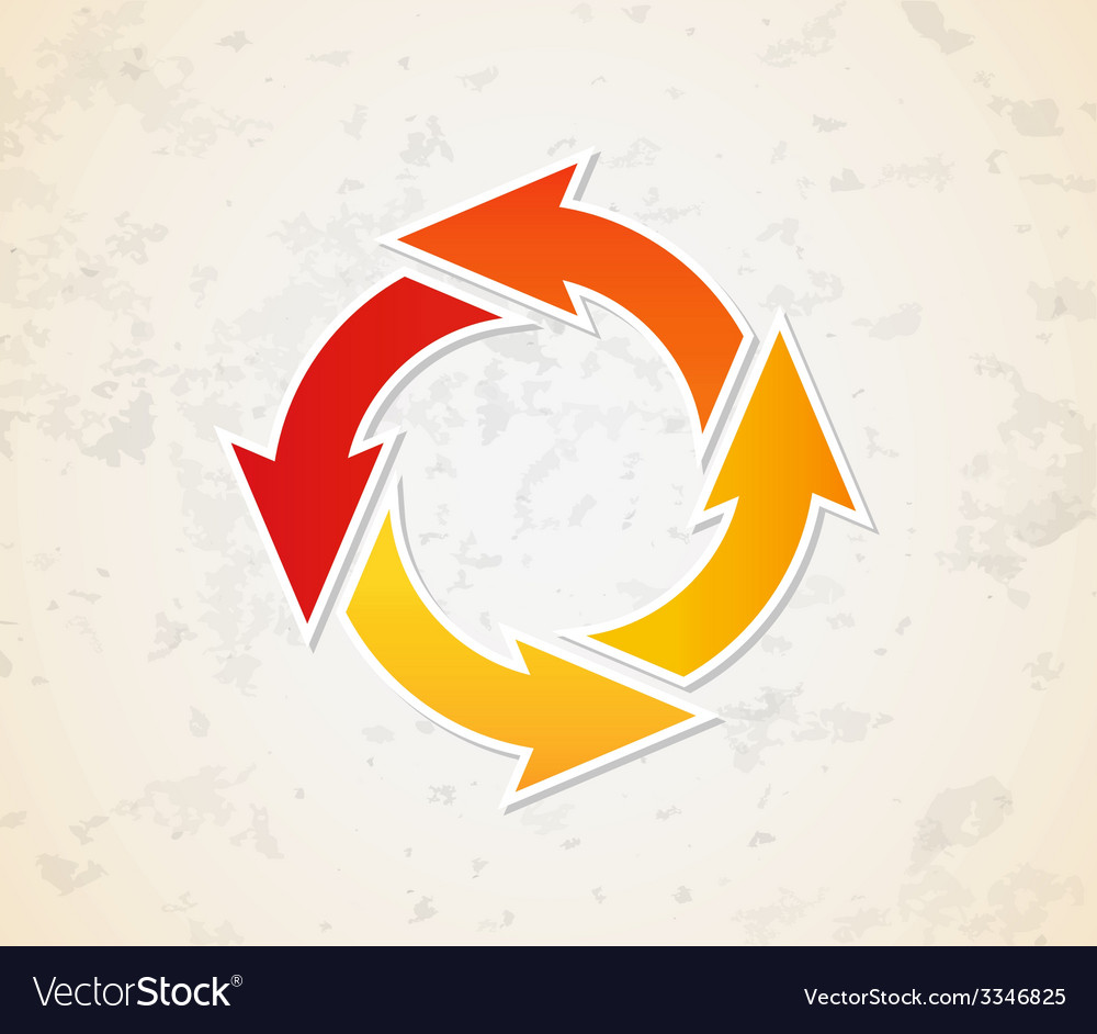 Gradient circle arrows vector | Price: 1 Credit (USD $1)