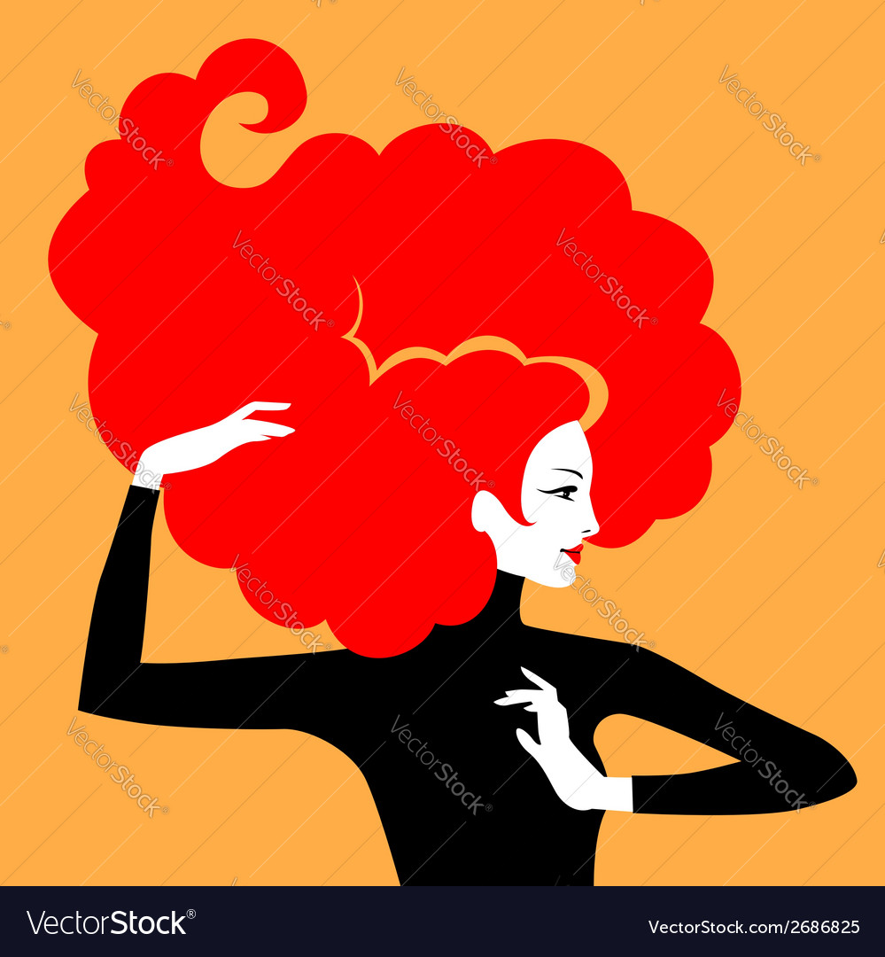 Hair elegant red vector | Price: 1 Credit (USD $1)